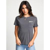 RVCA TOURIST TRAP GUNMETAL dámské tričko s krátkým rukávem - M