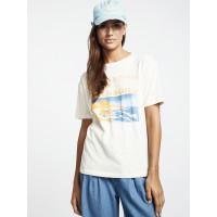 Billabong COAST LINE SALT CRYSTAL dámské tričko s krátkým rukávem - S
