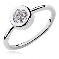 OLIVIE Stříbrný rhodiovaný prsten 2201 Velikost prstenů: 9 (EU: 59 - 61)