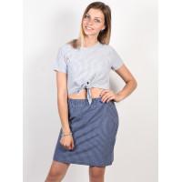 RVCA FADE OUT indigo dámské tričko s krátkým rukávem - M