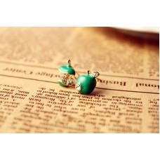 Náušnice Jablko - 2 barvy Barva: Zelená