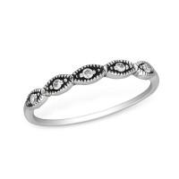 OLIVIE Stříbrný prsten se zirkony 1233 Velikost prstenů: 8 (EU: 57 - 58)