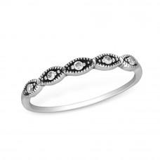 OLIVIE Stříbrný prsten se zirkony 1233 Velikost prstenů: 6 (EU: 51 - 53)