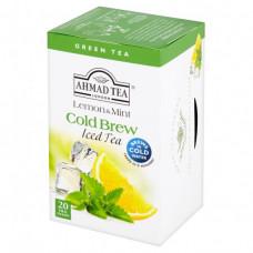 Ahmad Ledový čaj zelený citron a máta, 20x2g alu sáčků