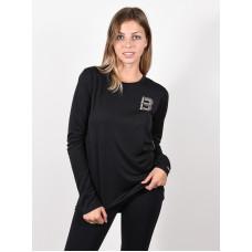 Burton MULTIPATH TRUE BLACK dámské tričko s dlouhým rukávem - S