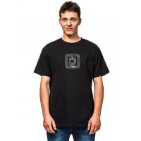 Horsefeathers GIDEON black pánské tričko s krátkým rukávem - M