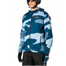 Fox Ranger Tech blue camo cyklistická bunda - M