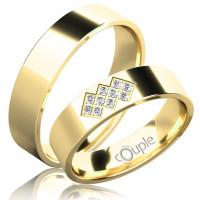 Zlato Snubní prsten Couple Flamenco ze žlutého zlata