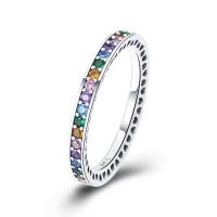 OLIVIE Vícebarevný stříbrný prstýnek 3454 Velikost prstenů: 6 (EU: 51 - 53)