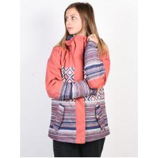 Roxy RX JETTY BLOCK DUSTY CEDAR EDIT SONG GEO zimní bunda dámská - XL