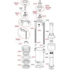 Alcaplast P0004-ND šroub a vložka posuvná V 17+V24 k vyp.ventilu A2000 (P0004-ND)