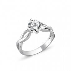 OLIVIE Stříbrný solitérní prsten se zirkonem 1264 Velikost prstenů: 6 (EU: 51 - 53)