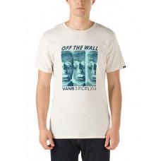 Vans MELTED MIND ANTIQUE WHITE pánské tričko s krátkým rukávem - M