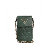 GUESS kabelka Delon Quilted Mini Crossbody forest vel.