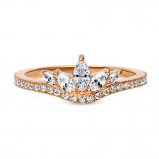 OLIVIE Stříbrný prsten ROSE 4118 Velikost prstenů: 9 (EU: 59 - 61)