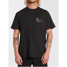 Billabong RED FISH black pánské tričko s krátkým rukávem - L