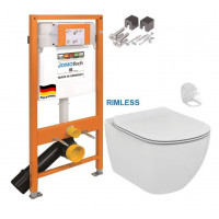 JOMO - SET JOMO Duofix modul pro závěsné WC + montážní sada + sedátko + WC TESI RIMLESS (174-91100700-00 TE2)