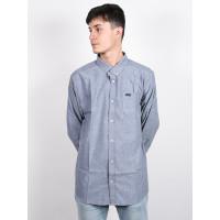 RVCA THATLL DO STRETCH DISTANT BLUE pánská košile dlouhý rukáv - L