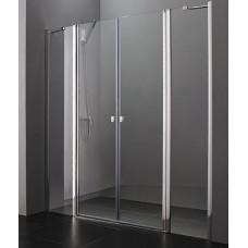 Aquatek Glass B4 105 sprchové dveře do niky dvoukřídlé s pevnou stěnou 100,5-104cm
