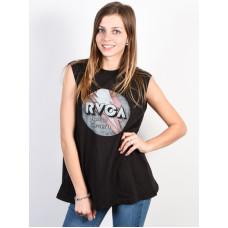 RVCA VOLT BOXY PIRATE BLACK dámské bavlněné tílko - XS