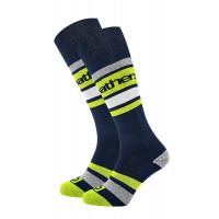 Horsefeathers MACE NAVY moderní barevné pánské ponožky - 8 - 10
