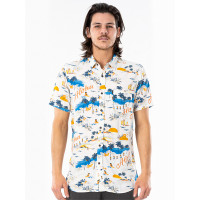 Rip Curl HAWAIIAN BONE pánská košile krátký rukáv - M