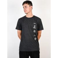 Rip Curl PICTOGRAMS black pánské tričko s krátkým rukávem - XL