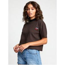 RVCA EYE SEE ALL black dámské tričko s krátkým rukávem - S