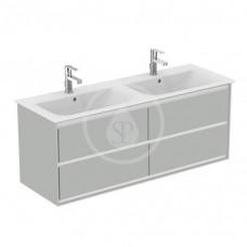 Ideal Standard Skříňka pod dvojumyvadlo, 1300x440x517 mm, lesklá světlá šedá/bílá mat E0824EQ