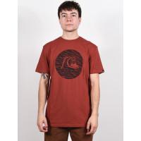 Quiksilver JUNGLE BUBBLE HENNA pánské tričko s krátkým rukávem - XL