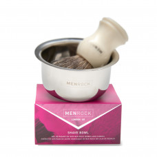 MENROCK Stainless Steel Shaving Bowl (gift boxed)