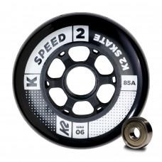 Kolečka k inline bruslím K2 90 MM SPEED WHEEL 8-PACK / ILQ 9 (2020) velikost: uni