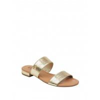 GUESS sandálky Korine Glitter Double-Strap Slip-On Sandals zlaté vel. 40