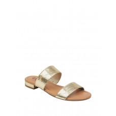 GUESS sandálky Korine Glitter Double-Strap Slip-On Sandals zlaté vel. 37,5