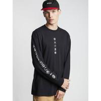 Element TAKASHI FLINT BLACK pánské tričko s dlouhým rukávem - XL