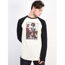 Burton ROADIE TECH T SKULL AND ROSES pánské tričko s dlouhým rukávem - XL
