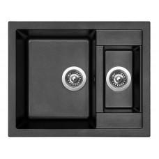 Sinks Kuchyňský dřez Crystal 615.1 Metalblack