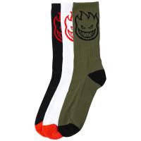 Spitfire BIGHEAD 3 PACK moderní barevné pánské ponožky