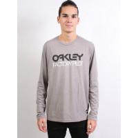 Oakley FP LOGO L/S ATHLETIC HEATHER GREY pánské tričko s dlouhým rukávem - S