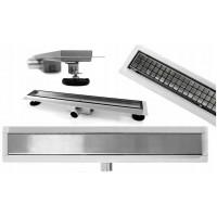 REA - Lineární odtokový žlab + sifon + nožičky + rošt Neo Pure 900 N (REA-G0094)