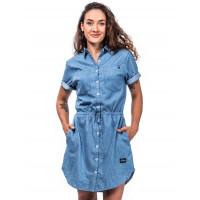 Horsefeathers MARIANA LIGHT BLUE společenské šaty krátké - L