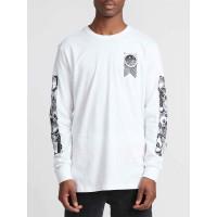 RVCA MANDER white pánské tričko s krátkým rukávem - M