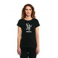 Horsefeathers WAR PAINT black dámské tričko s krátkým rukávem - S