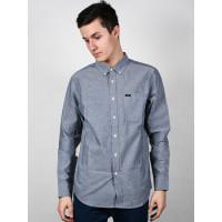 RVCA THATLL DO STRETCH OXFORD BLUE pánská košile dlouhý rukáv - L