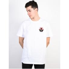 RVCA BRUCE IRONS white pánské tričko s krátkým rukávem - XL