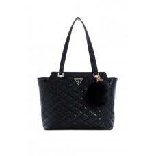 GUESS kabelka Astrid Quilted Logo Tote černá vel.