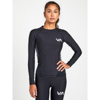 RVCA COMPRESSION black dámské tričko s dlouhým rukávem - M