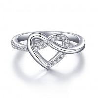 OLIVIE Stříbrný prstýnek NEKONEČNÉ SRDCE 2962 Velikost prstenů: 8 (EU: 57 - 58)