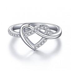 OLIVIE Stříbrný prstýnek NEKONEČNÉ SRDCE 2962 Velikost prstenů: 5 (EU: 47 - 50)