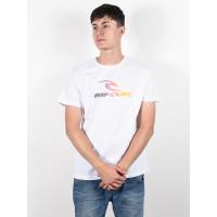 Rip Curl THE SURFING COMPANY OPTICAL WHITE pánské tričko s krátkým rukávem - M